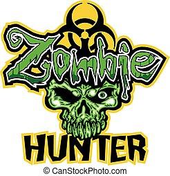 zombie hunter - biohazard zombie hunter design with dead...