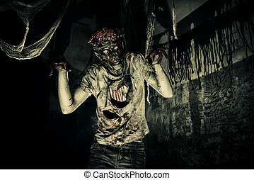 zombie in blood