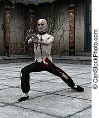zombie Kung fu master - zombie Chinese martial artist