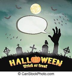 Silhouette di cartone animato zombie vettoriale scarica gratis