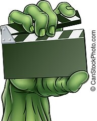 Zombie Monster Horror Film Movie Clapper Board