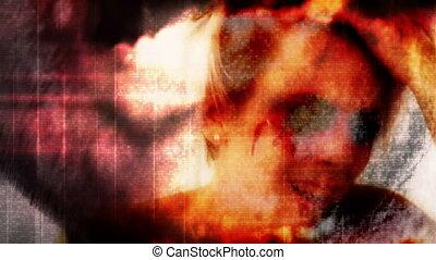 Zombie Nightmare-Screaming No Eyes - Film Damage Zombie...