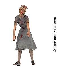 zombie  - nurse zombie