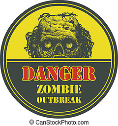 Zombie Outbreak. Hand drawn. Vector Eps8