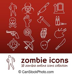 zombie outline icons