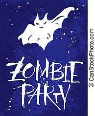 Zombie Party Halloween card