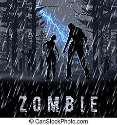 zombie, poste