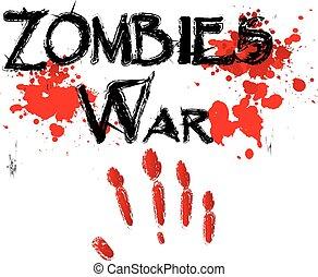 zombie, rædsel, glose, krig