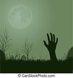zombie, ręka