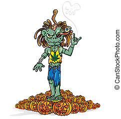 zombie rock cartoon