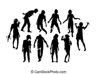 Zombie Silhouettes, art vector design