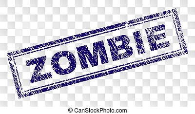zombie, stämpel, grunge, rektangel