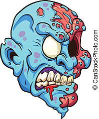 zombie, testa