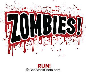 zombie, texto