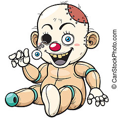 Zombie Toy - Vector illustration of Cartoon Zombie Toy
