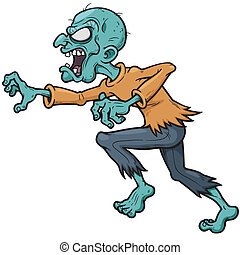Zombie - Vector illustration of Cartoon zombie