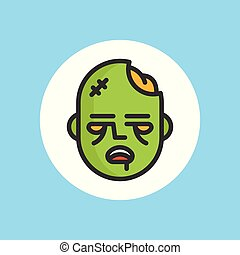 zombie vector icon sign symbol