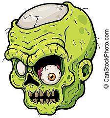 Zombie - Vector illustration of Cartoon zombie face