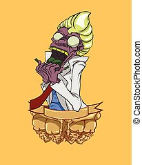 Zombie vector. Monster in Halloween