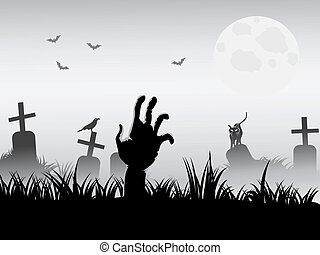 zombie waking for halloween background