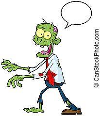 Zombie With Speech Bubble