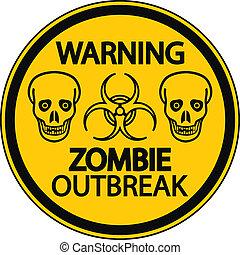 zombie, wybuch, ostrzeżenie