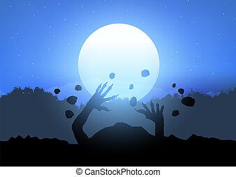 zombie, wybuchająy, 0109, gruntowy