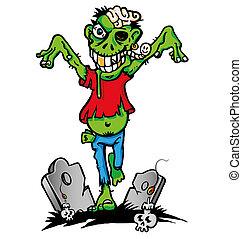 zombie, zielony