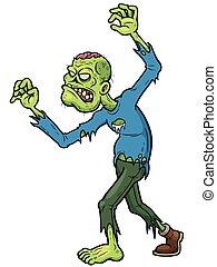 Zombies - Vector illustration of Cartoon Zombie