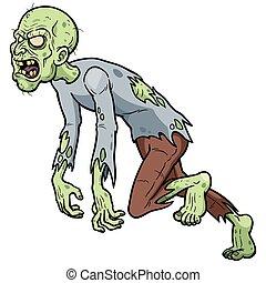 Zombies - Vector illustration of Cartoon Zombie