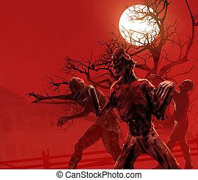 Zombies walking.