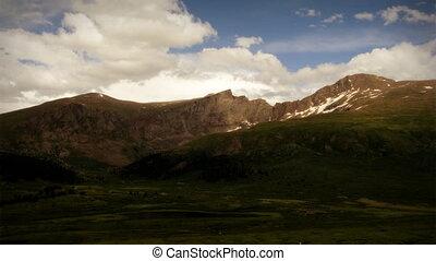 zomer, (1103), wildernis, berg, wrakkigheid, storm, tijd