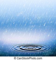zomer, abstract, natuurlijke , achtergronden, regen