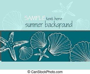 zomer, achtergrond, doppen
