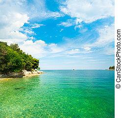 zomer, adriatisch, kroatië, landscape, zee