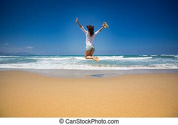 zomer, concept, vakanties