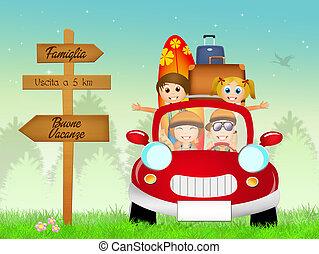 zomer, familievakantie