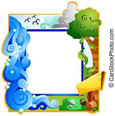 zomer, frame