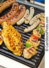 zomer, grill, feestje