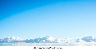 zomer, hemel, en, wolken