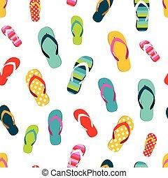 zomer, herhalen, illustration., plat, kleur, mislukking, pattern., tik, model, seamless, achtergrond., spotprent