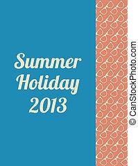 zomer, hipster, ontwerp, bijzondere , achtergrond