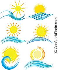 zomer, iconen