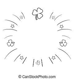 zomer, illustratie, doodl, hand, achtergrond., sketchy, vector, getrokken