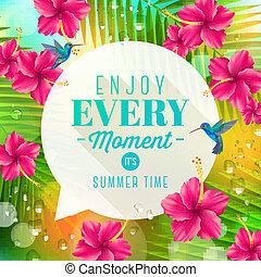 zomer, illustratie, feestdagen