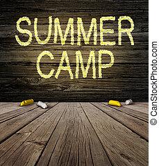 zomer kamp, meldingsbord