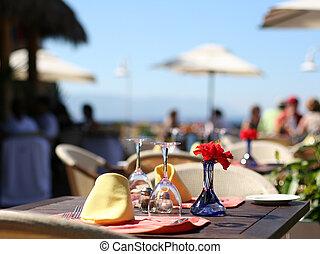zomer, koffiehuis