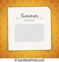 zomer, kopie, achtergrond, kleurrijke, ruimte
