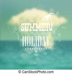 zomer, ontwerp, calligraphic