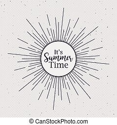 zomer, ontwerp, tijd